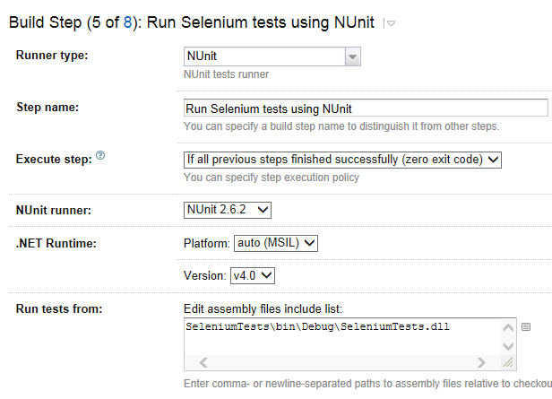 Integrating automated Selenium tests with TeamCity | Proxmedia