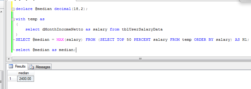 Calculate median in stored procedure t sql proxmedia calculating median value consumes quite a lot of server resources so make sure you are calculating it when really needed it is considered a good practice ccuart Gallery